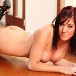 Charlene Nicholls – Stripping Nude From Black Lingerie - 18