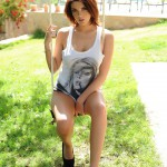 Emma Leigh – Slipping Out Of Her Long Tshirt On The Swing - 0