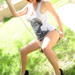 Emma Leigh – Slipping Out Of Her Long Tshirt On The Swing - 5