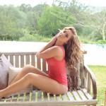 Geena Mullins Looks Hot In Her Pink Bra And Panties - 1