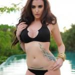 Harriet H – Bursting Out Of Her Black Bikini - 14