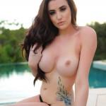 Harriet H – Bursting Out Of Her Black Bikini - 22