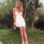 Janine Leech – White Dress On The Swing - 0