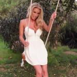 Janine Leech – White Dress On The Swing - 1