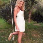 Janine Leech – White Dress On The Swing - 2