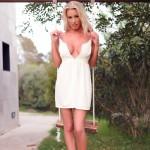 Janine Leech – White Dress On The Swing - 11