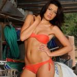 Jessica Spencer – Orange Bikini - 0