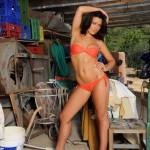Jessica Spencer – Orange Bikini - 1