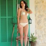 Jo Bosley – White And Gold Bikini - 0