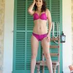 Kat Gibbs – Purple Bra And Thong - 0