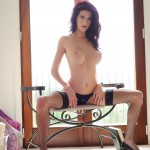 Katie Ford Strips From Her Cute Purple Lingerie - 20