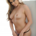 Leah Francis – Black Bra And Thong By The Fire - 11