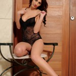 Lucy P – Stripping Nude From Her Black Lingerie - 4