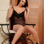 Lucy P – Stripping Nude From Her Black Lingerie - 7