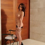 Lucy P – Stripping Nude From Her Black Lingerie - 16
