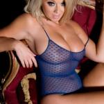 Melissa Debling – Blue Bodysuit And G-string - 10