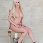 Natalie Fox Strips Nude From Her Pink Bra And Panties - 20