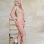 Natalie Fox Strips Nude From Her Pink Bra And Panties - 21