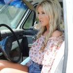 Rosy Obrian – Floral Top With Denim Shorts - 0