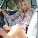 Rosy Obrian – Floral Top With Denim Shorts - 2