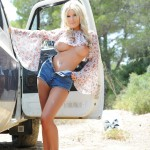 Rosy Obrian – Floral Top With Denim Shorts - 10