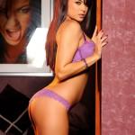 Sasha Cane – Purple Bra And Panties - 6