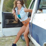 Becky Holt – Sexy In Denim On The Truck - 2