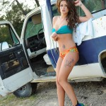 Becky Holt – Sexy In Denim On The Truck - 7