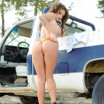 Becky Holt – Sexy In Denim On The Truck - 16
