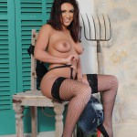 Flame Emmin – Cute Top With Tight Denim Shorts And Fishnet Stockings - 21