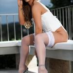 Gemma Webb – White Corset With No Panties - 20