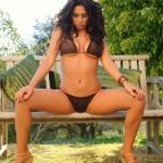 Georgie Serino Pelling Off Her Little Brown Bikini - 2