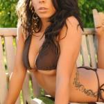 Georgie Serino Pelling Off Her Little Brown Bikini - 10