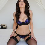 Jo Bosley – Sexy Black Lingerie With Stockings - 3