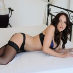 Jo Bosley – Sexy Black Lingerie With Stockings - 7