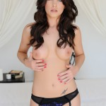 Jo Bosley – Sexy Black Lingerie With Stockings - 14