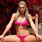 Kayleigh P – Stripping From Red See Thru Bra And Panties - 4