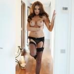 Liberty Parisse – Black Corset Panties And Stockings - 19