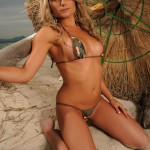 Michelle Cole – Army Bikini At The Beach - 2