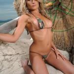 Michelle Cole – Army Bikini At The Beach - 3