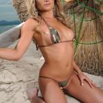 Michelle Cole – Army Bikini At The Beach - 5