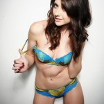 Natalie Taylor – Cute Blue And Gold Lingerie - 6