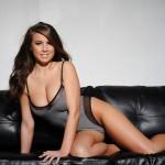 Sarah Mcdonald – Sarah Strips From Her Grey Bodysuit - 1