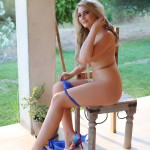 Siobhan Tedder Stripping Nude From Her Blue Bra And Thong - 12
