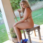 Siobhan Tedder Stripping Nude From Her Blue Bra And Thong - 16