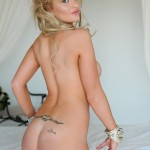 Vanessa Walker Strips Naked From Her Cute Lingerie On Her Bed - 20