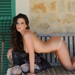 Aime Middleton – Bra And Knickers On The Bench - 19