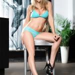 Kayleigh P – Green Lingerie - 1