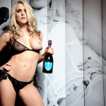 Kayleigh P Stripping With A Bottle Of Champs - 7