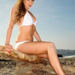 Leah Francis – White Bikini At The Beach - 1